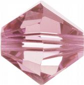 50 x 4mm SWAROVSKI® ELEMENTS Crystal Light Rose Xilion Beads